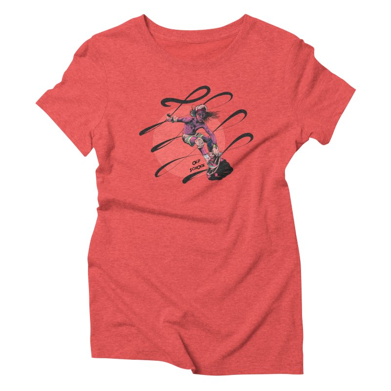 Skater80 Red Women's Triblend T-Shirt by · STUDI X-LEE ·