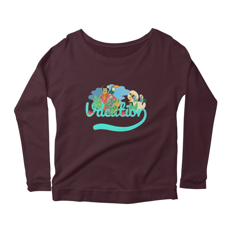 I'm on Vacation Women's Scoop Neck Longsleeve T-Shirt by INK. ALPINA