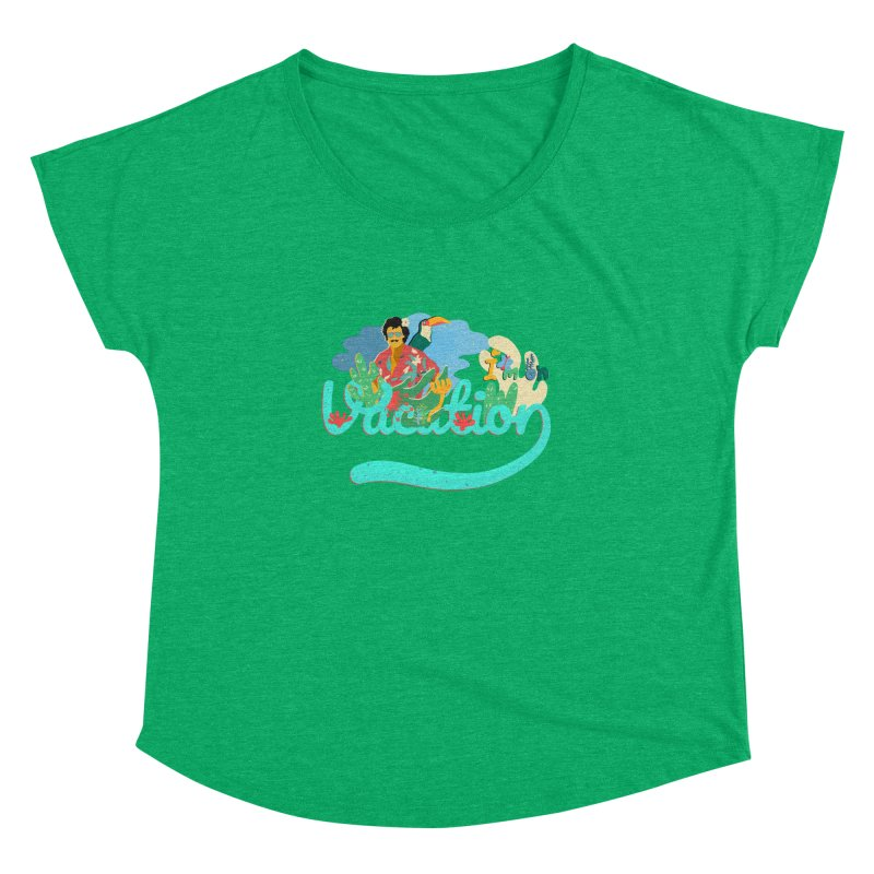 I'm on Vacation Women's Dolman Scoop Neck by INK. ALPINA