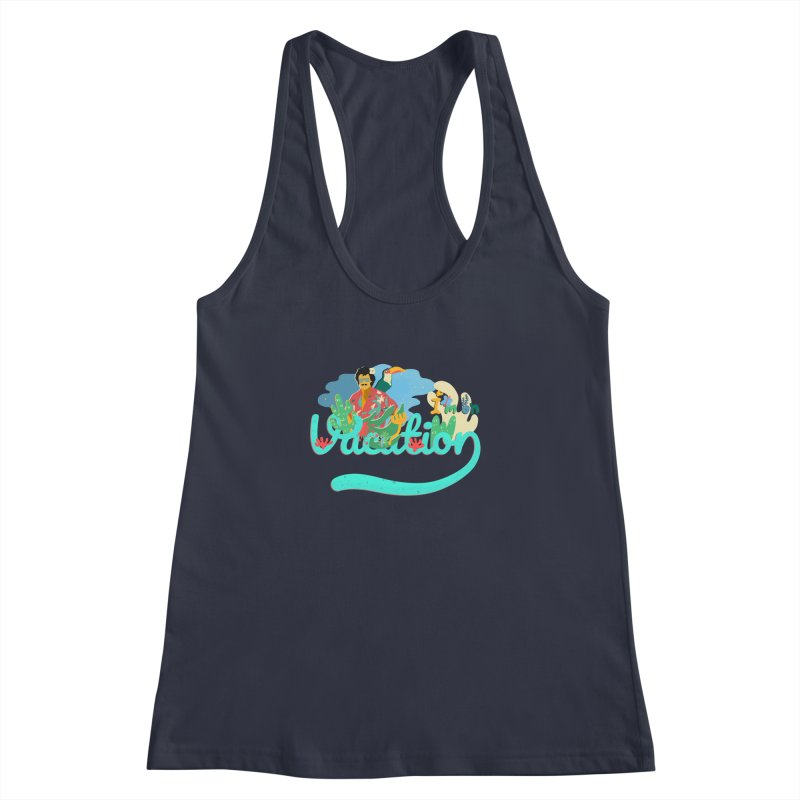 I'm on Vacation Women's Racerback Tank by INK. ALPINA