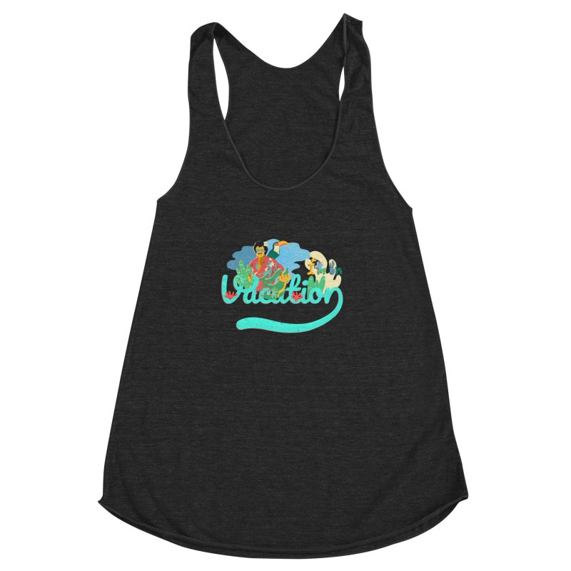 I'm on Vacation Women's Racerback Triblend Tank by INK. ALPINA