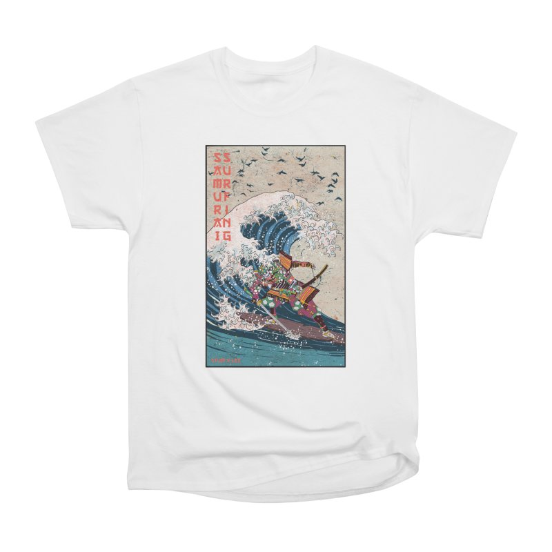 Samurai Surfing Men's Heavyweight T-Shirt by INK. ALPINA