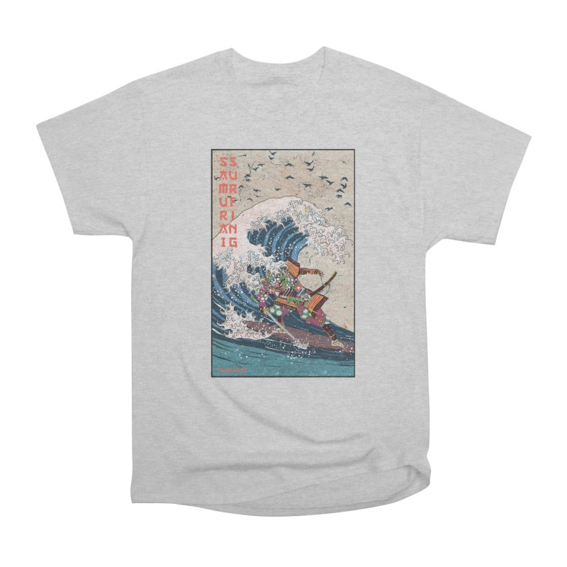 Samurai Surfing Women's Heavyweight Unisex T-Shirt by · STUDI X-LEE ·