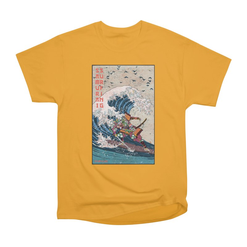 Samurai Surfing Women's Heavyweight Unisex T-Shirt by · STUDI X-LEE ·