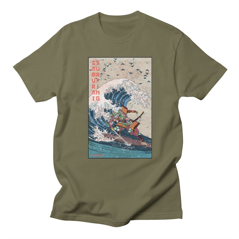 Samurai Surfing Men's T-Shirt by · STUDI X-LEE ·