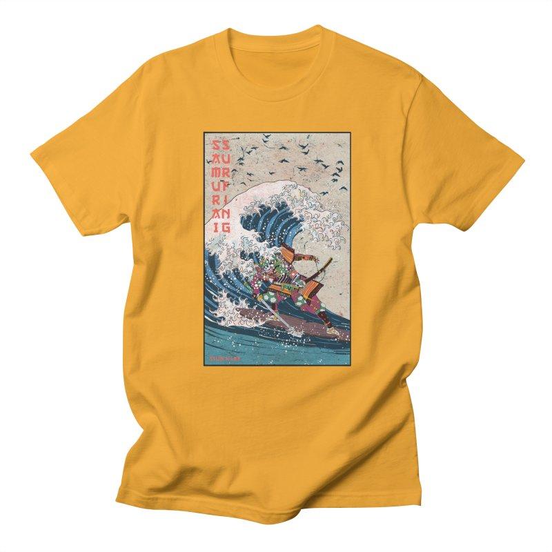 Samurai Surfing Men's T-Shirt by · STUDI X-LEE ·