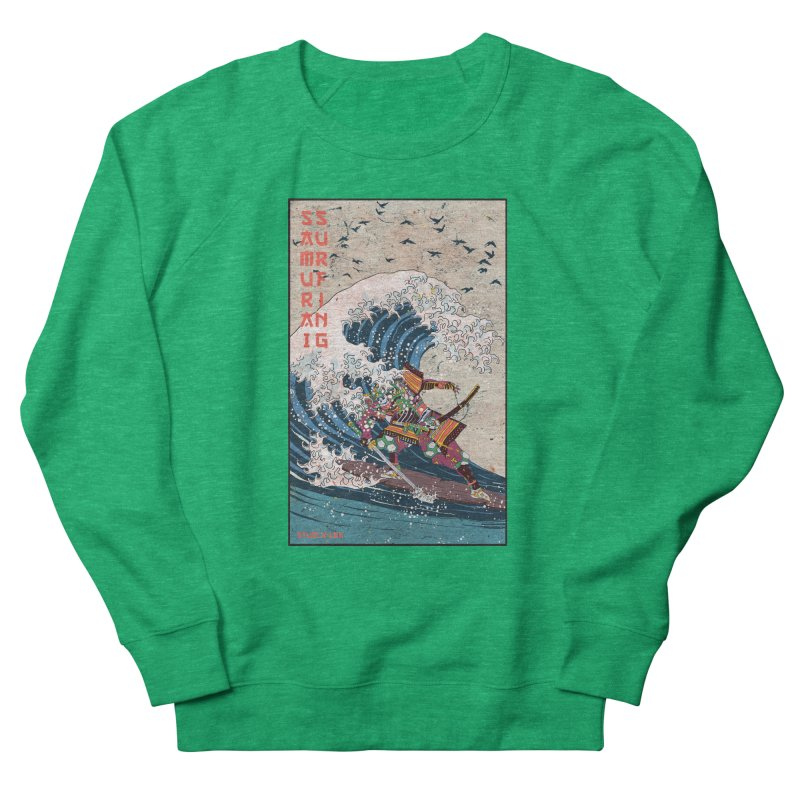 Samurai Surfing Men's French Terry Sweatshirt by · STUDI X-LEE ·