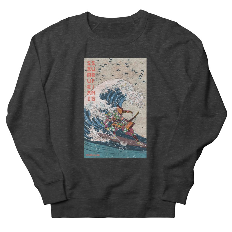 Samurai Surfing Men's French Terry Sweatshirt by INK. ALPINA