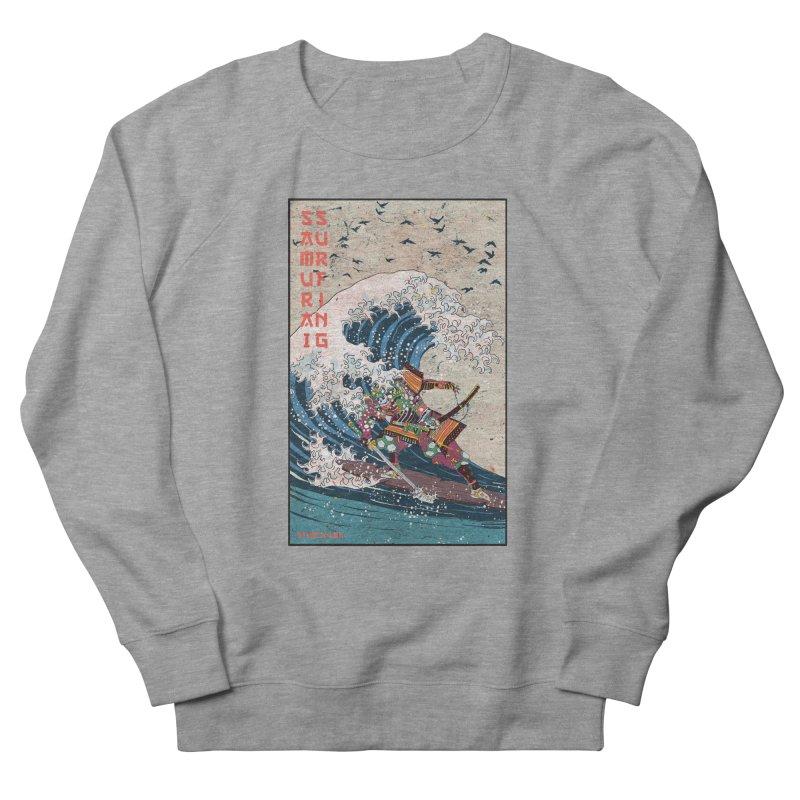 Samurai Surfing Men's French Terry Sweatshirt by INK. ALPINA
