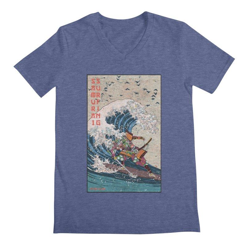 Samurai Surfing Men's Regular V-Neck by · STUDI X-LEE ·
