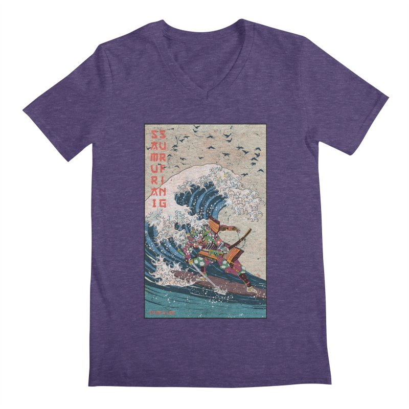 Samurai Surfing Men's V-Neck by · STUDI X-LEE ·