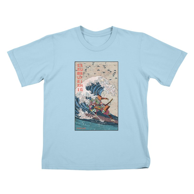 Samurai Surfing Kids T-Shirt by · STUDI X-LEE ·