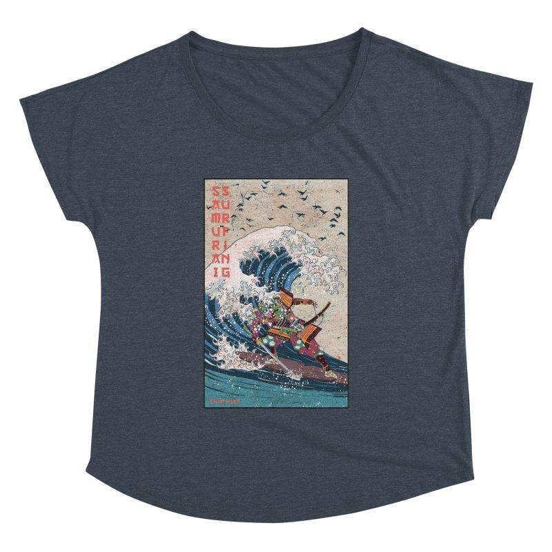 Samurai Surfing Women's Dolman Scoop Neck by · STUDI X-LEE ·