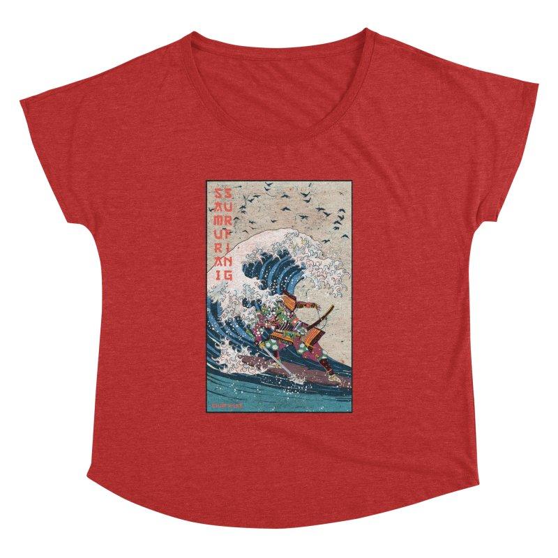 Samurai Surfing Women's Dolman Scoop Neck by INK. ALPINA
