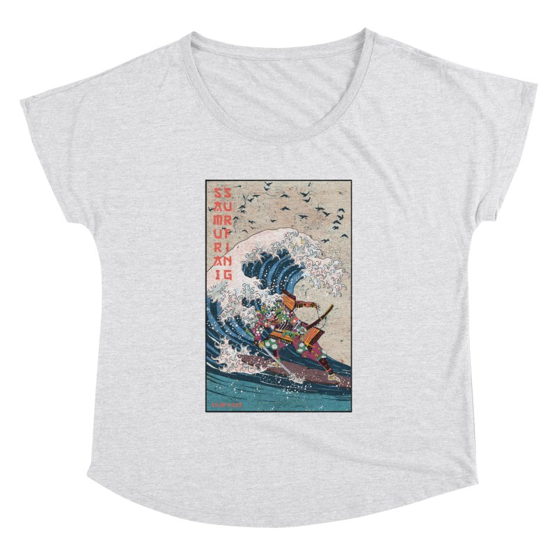 Samurai Surfing Women's Dolman Scoop Neck by INK. ALPINA