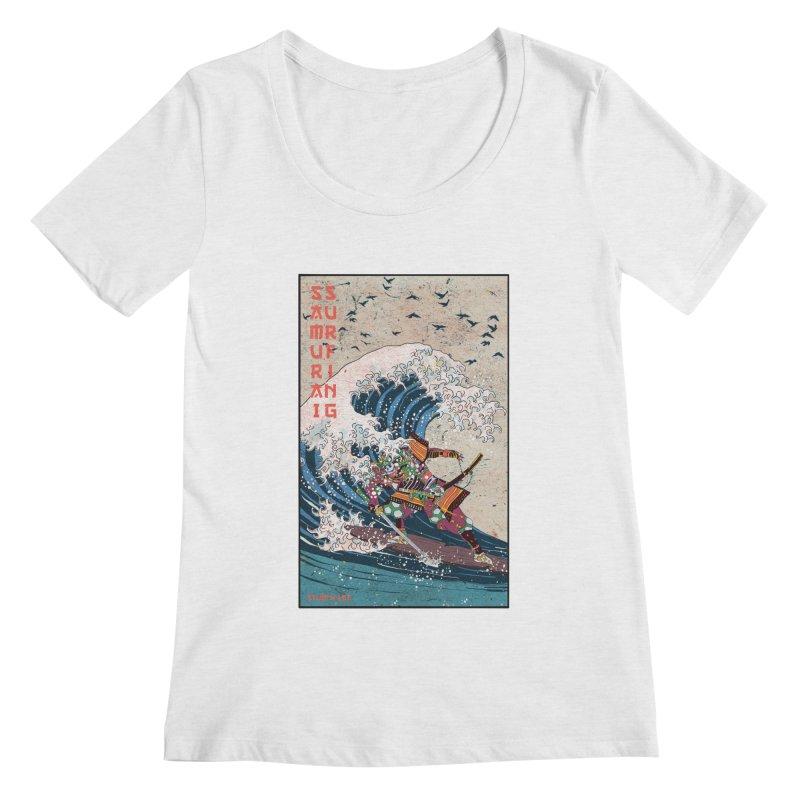 Samurai Surfing Women's Regular Scoop Neck by · STUDI X-LEE ·