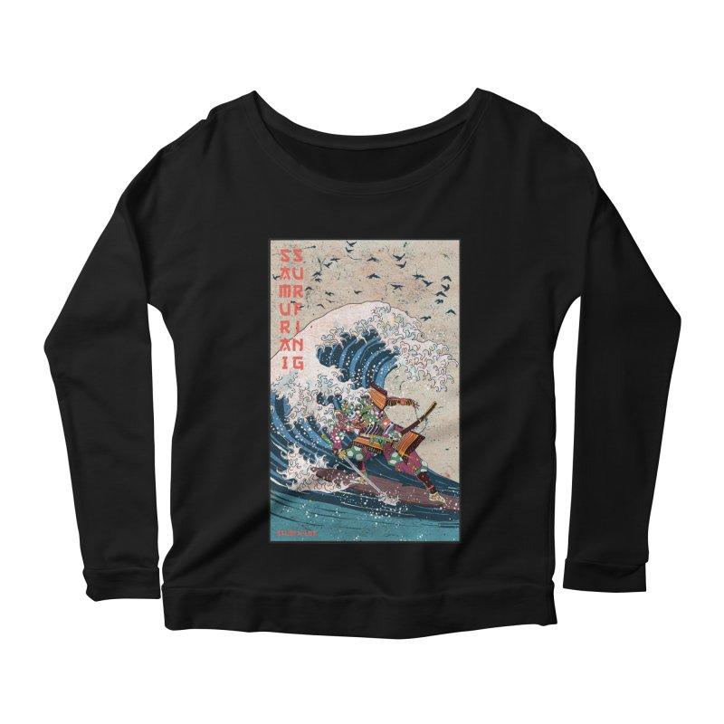 Samurai Surfing Women's Scoop Neck Longsleeve T-Shirt by · STUDI X-LEE ·