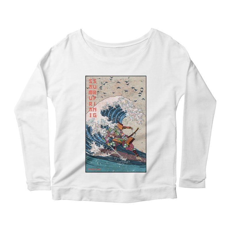 Samurai Surfing Women's Longsleeve T-Shirt by · STUDI X-LEE ·