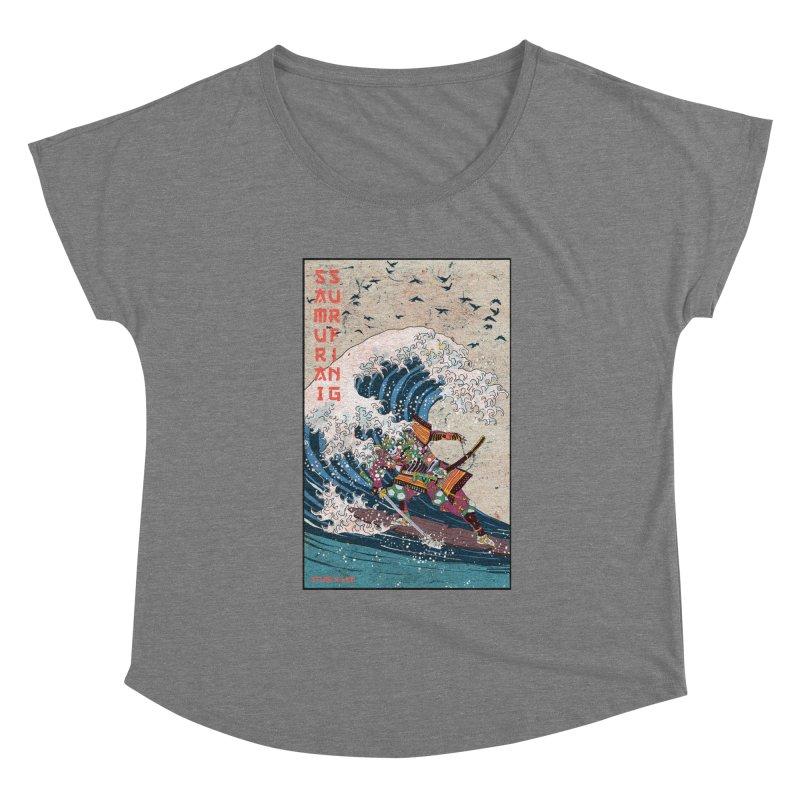 Samurai Surfing Women's Scoop Neck by · STUDI X-LEE ·