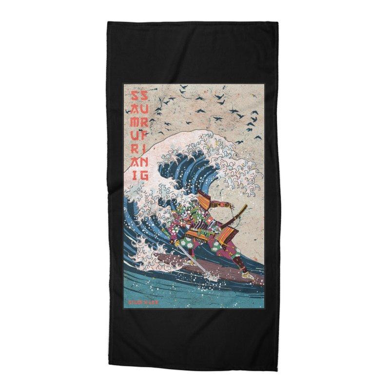 Samurai Surfing Accessories Beach Towel by INK. ALPINA