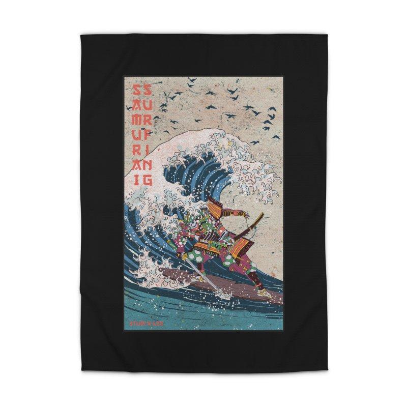 Samurai Surfing Home Rug by · STUDI X-LEE ·