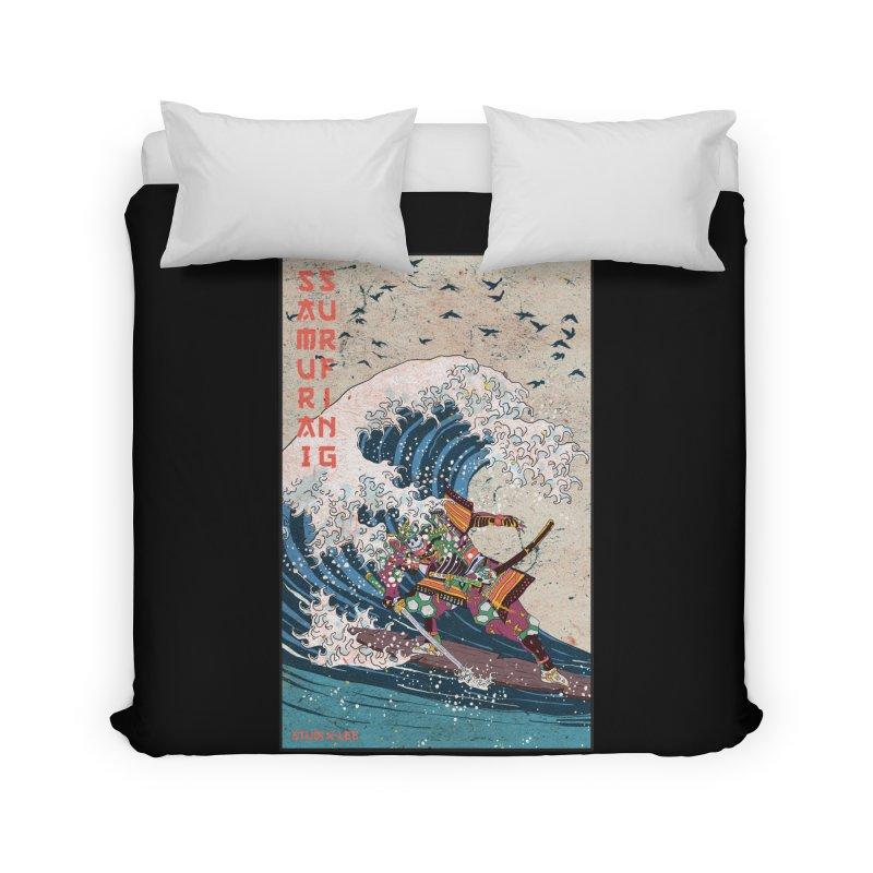 Samurai Surfing Home Duvet by INK. ALPINA