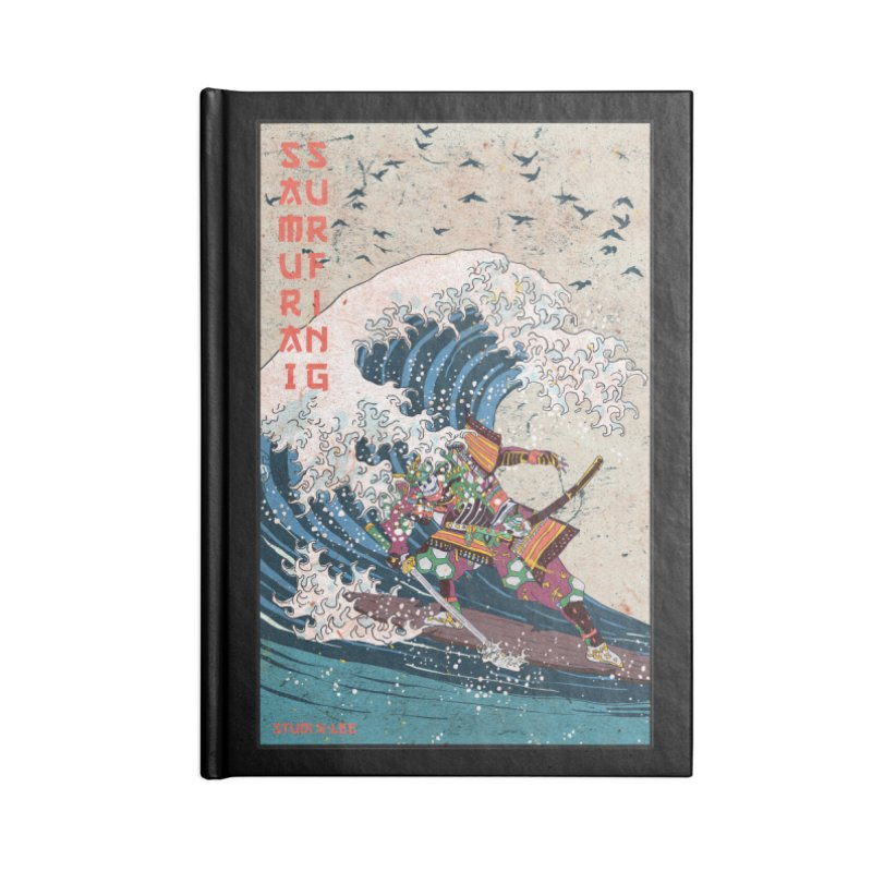 Samurai Surfing Accessories Lined Journal Notebook by · STUDI X-LEE ·