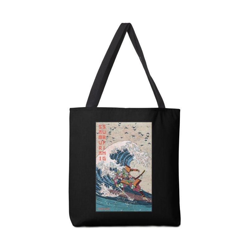 Samurai Surfing Accessories Tote Bag Bag by · STUDI X-LEE ·