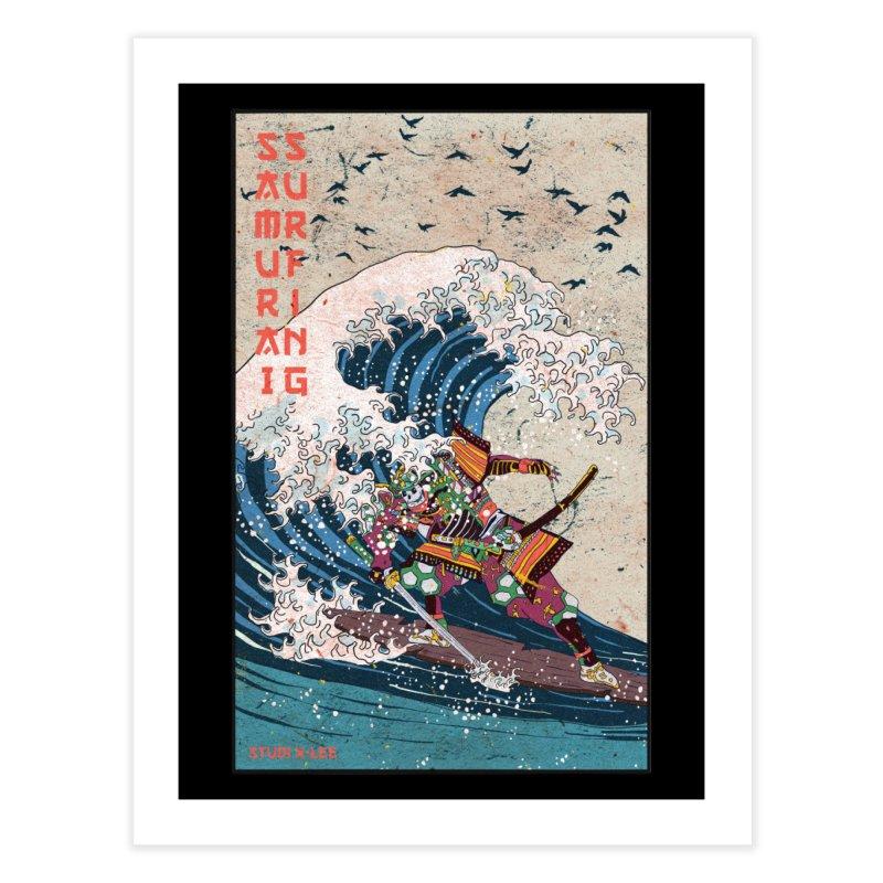Samurai Surfing Home Fine Art Print by · STUDI X-LEE ·