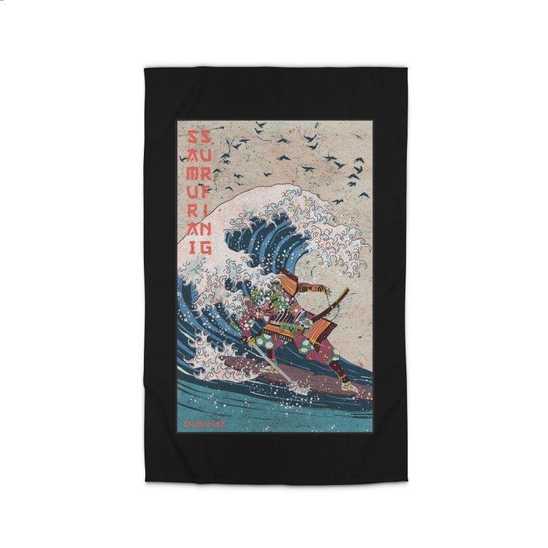 Samurai Surfing Home Rug by INK. ALPINA