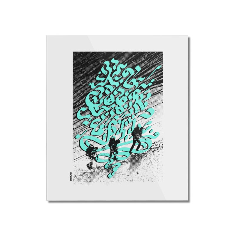 Alpinistes K2 Home Mounted Acrylic Print by INK. ALPINA