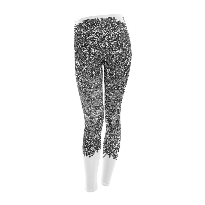 Cat in the garden Women's Leggings Bottoms by · STUDI X-LEE ·