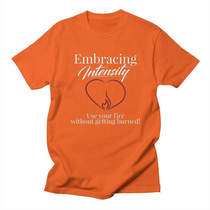 Embracing Intensity - Orange Men's T-Shirt by XpressYourPower Shop