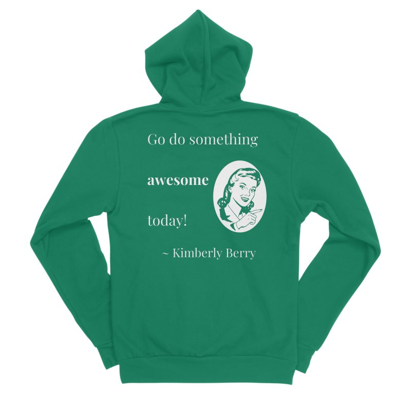Do something awesome! White Lettering Men's Sponge Fleece Zip-Up Hoody by XpressYourPower Shop