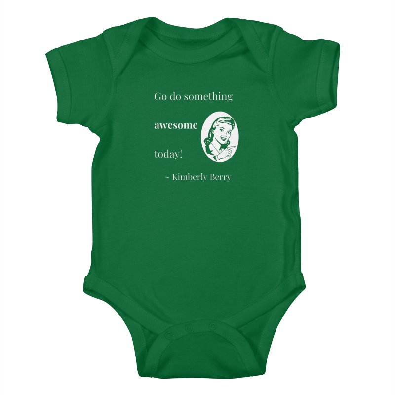 Do something awesome! White Lettering Kids Baby Bodysuit by XpressYourPower Shop