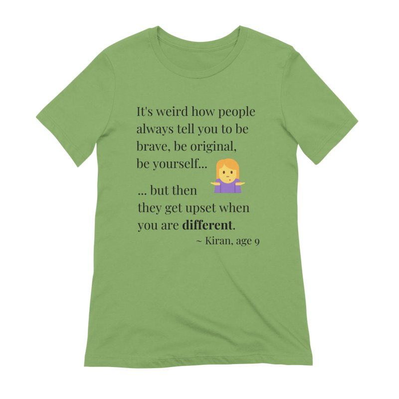 Being Different Women's Extra Soft T-Shirt by XpressYourPower Shop