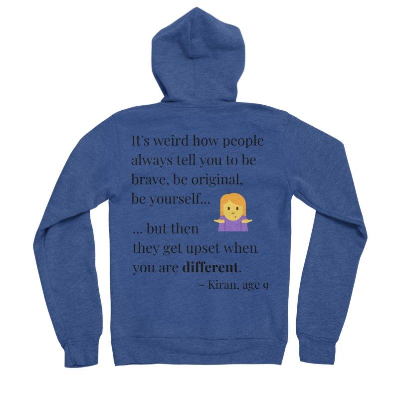 Being Different Men's Sponge Fleece Zip-Up Hoody by XpressYourPower Shop