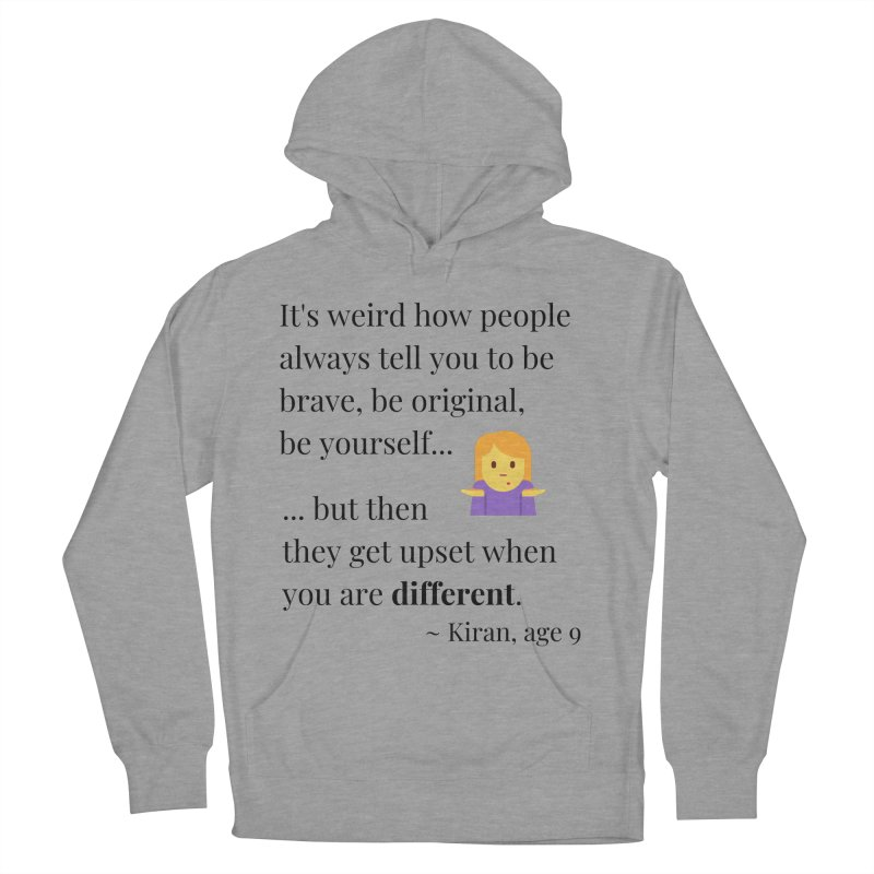Being Different Men's French Terry Pullover Hoody by XpressYourPower Shop