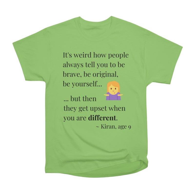 Being Different Women's Heavyweight Unisex T-Shirt by XpressYourPower Shop