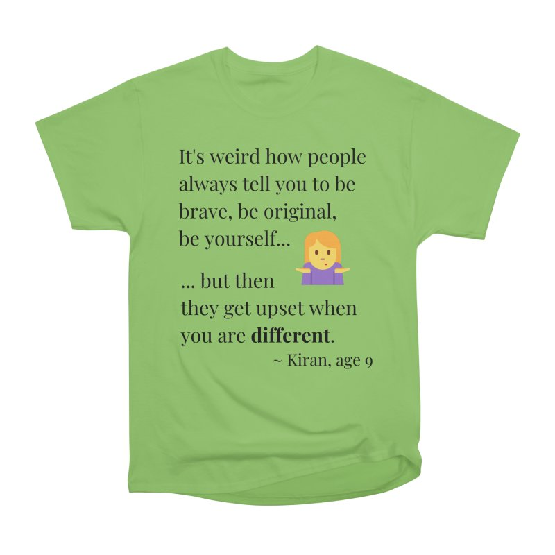 Being Different Men's Heavyweight T-Shirt by XpressYourPower Shop