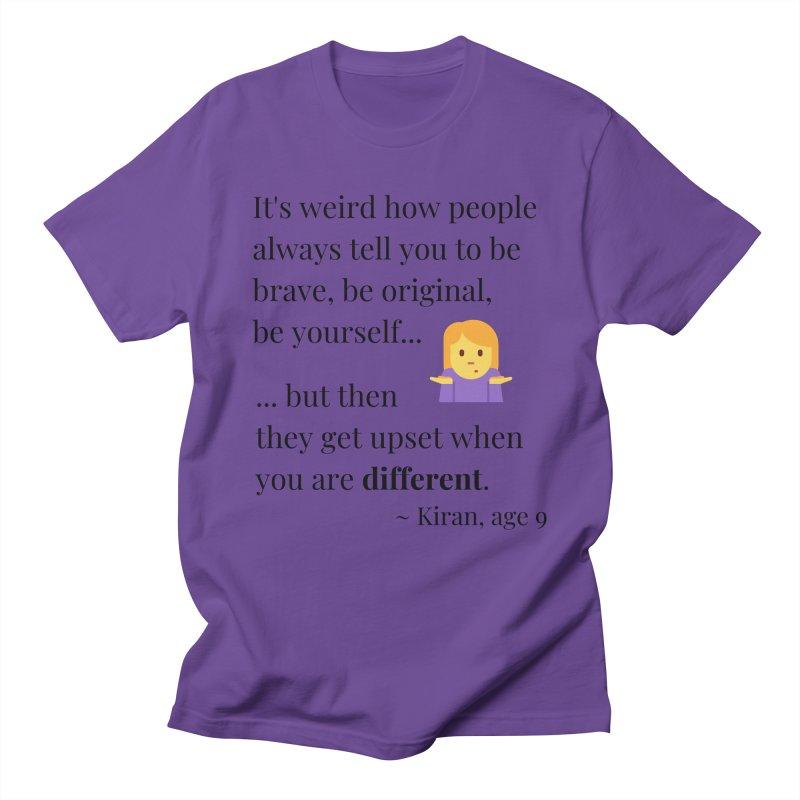 Being Different Women's Regular Unisex T-Shirt by XpressYourPower Shop
