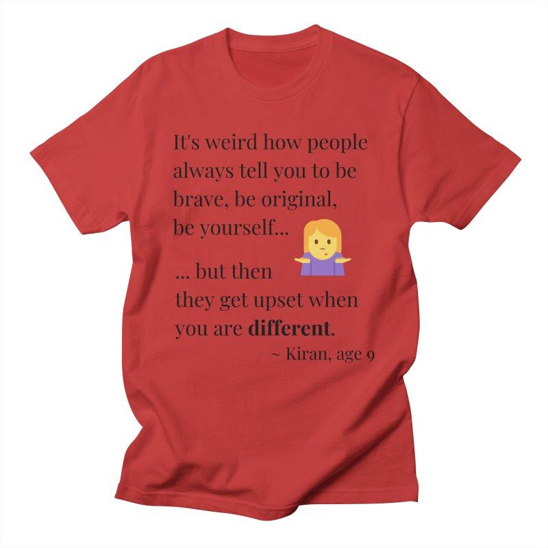 Being Different Men's Regular T-Shirt by XpressYourPower Shop