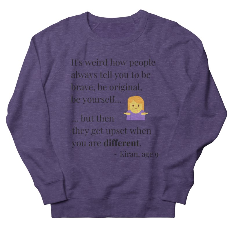 Being Different Men's French Terry Sweatshirt by XpressYourPower Shop