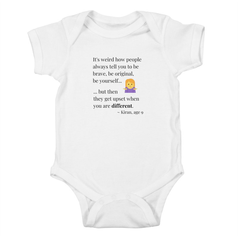 Being Different Kids Baby Bodysuit by XpressYourPower Shop