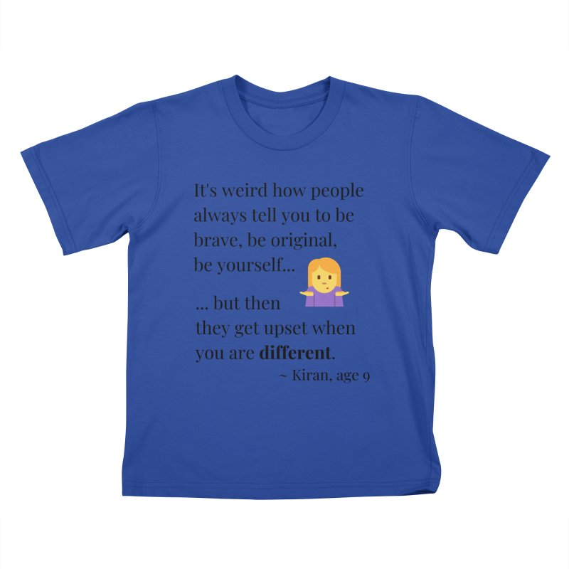 Being Different Kids T-Shirt by XpressYourPower Shop