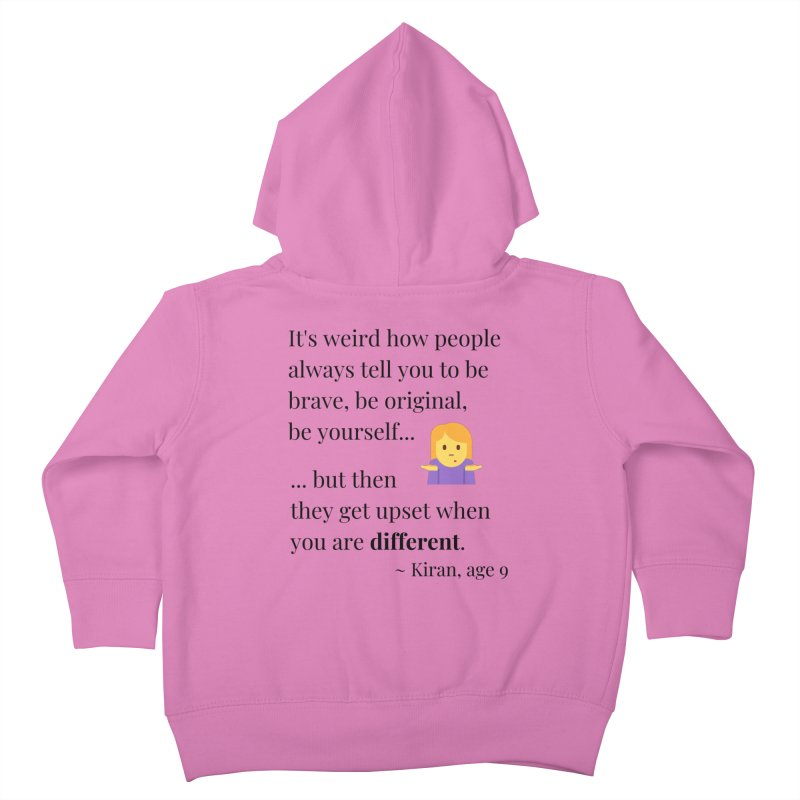 Being Different Kids Toddler Zip-Up Hoody by XpressYourPower Shop