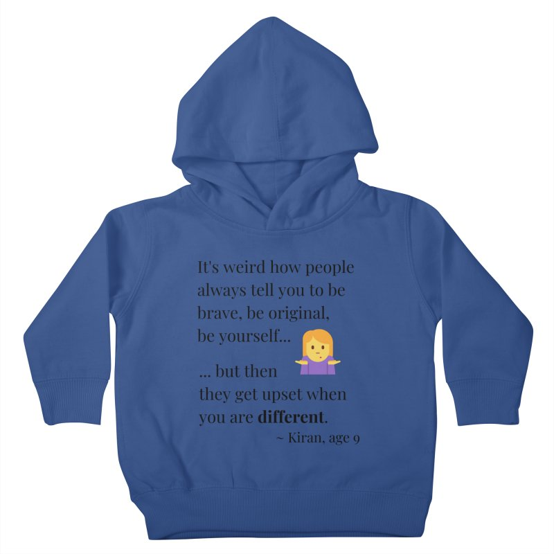 Being Different Kids Toddler Pullover Hoody by XpressYourPower Shop