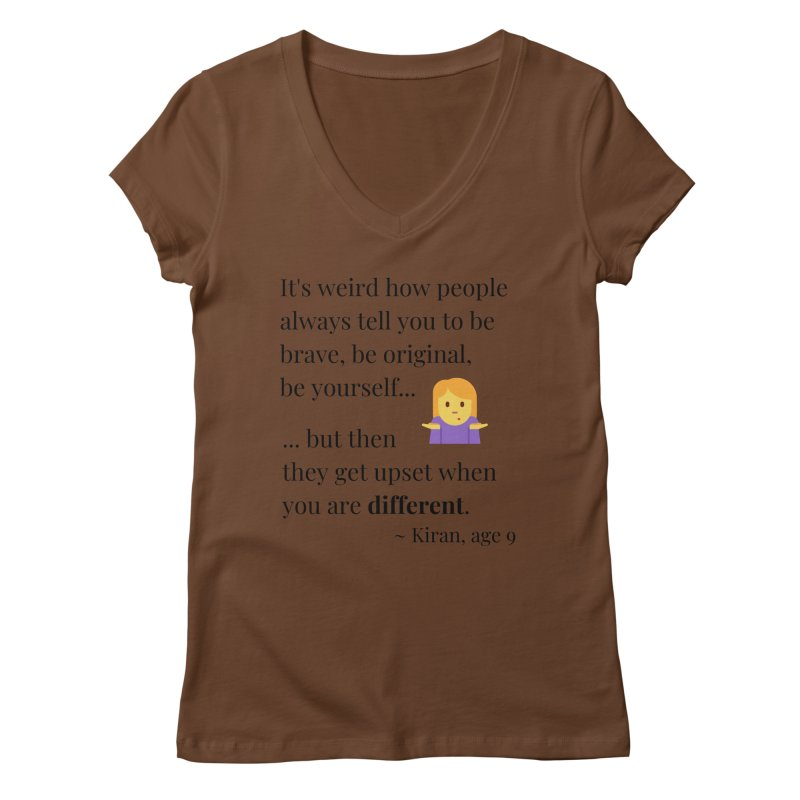 Being Different Women's Regular V-Neck by XpressYourPower Shop