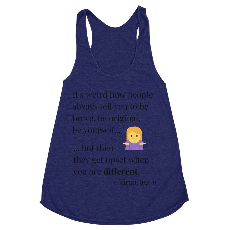 Being Different Women's Racerback Triblend Tank by XpressYourPower Shop