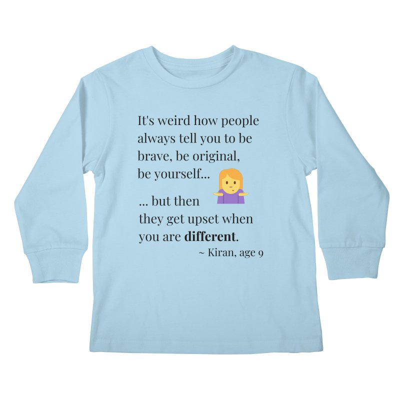 Being Different Kids Longsleeve T-Shirt by XpressYourPower Shop